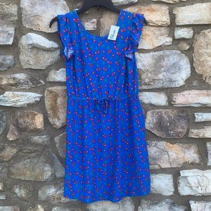 Epic Threads blue dress cherries Girls size XL NEW
